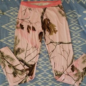 Pink camo thermal bottoms